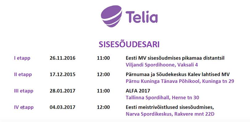 Telia sisesõudesari 2016-2017